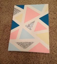 d1d41df170f4e DIY Modern Mosaic Painting   Craft + DIY   Glitter wall art, Mosaic ...
