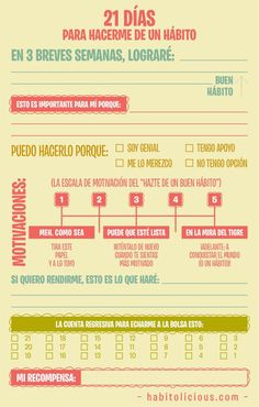21 días para hacerme un # hábito # Infografía - **O** - Burn Out, Study Tips, Herbalife, Better Life, Self Improvement, Good To Know, Leadership, Knowledge, Lettering