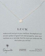 Collar: elefante. Pide un deseo y ponlo en tu collar. El elefante es un símbolo antiguo de buena suerte y prosperidad. Usa tu collar como un recordatorio de que cuánto más abrazas a la vida, más suerte tendrás.