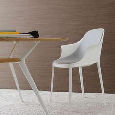 Contemporary chair / upholstered / aluminum / polyurethane ELLE ALIAS