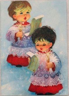 Old Christmas Post Cards — Christmas Carols Old Time Christmas, Christmas Card Images, Vintage Christmas Images, Christmas Post, Old Fashioned Christmas, Christmas Scenes, Antique Christmas, Retro Christmas, Vintage Holiday
