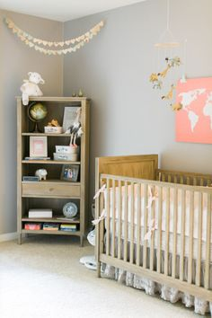 Travel themed nursery: http://www.stylemepretty.com/living/2015/04/03/a-lovely-travel-themed-nursery/ | Photography: Jen Rodriguez - http://www.jen-rodriguez.com/