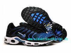 Site Nike Air Max Tn Requin/Tuned 2015 Chaussures Nike Baskets Pas Cher Pour Homme Noir/Bleu