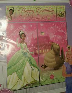 New Disney Princess & the Frog Tiana GIANT Scene Setter Photo Backdrop Wall Decor #Disney #Tiana #BlackPrincess #Beautiful #BirthdayParty #Decorations #PrincessAndTheFrog #BedroomMakeover