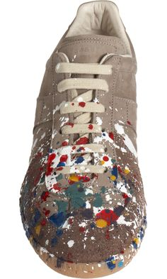 Maison Martin Margiela Line 22 Paint Splatter Low Top Sneaker