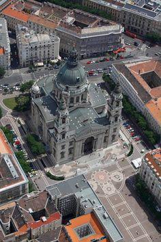 St. Stephen's Basilica from bird's-eye view. #Budapest  #Europe #Hungary