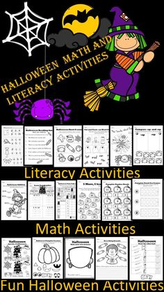 Fun Halloween activities, great for Reading and Math centers. Included are also crafts, games and writing activities.