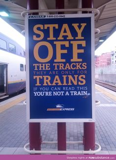 You are not a train