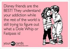 Disney friends are the BEST! They understand your addiction while the rest of the world is still trying to figure out what a Dole Whip or Fastpass is!