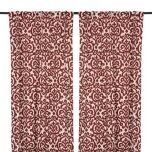 Red Darby Curtain Panel Set, 84 in. | Kirklands