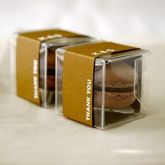 Thank you gift package. Could add something small like this to the gift basket. The market has a bakery with macaroons.