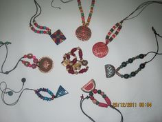 hand made and painted terracota..necklaces ....my hobby