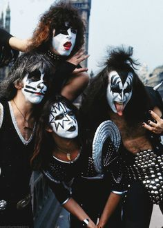 """""""KISS in London during their first European tour on May Photographed by Anwar Hussein. Kiss Images, Kiss Pictures, El Rock And Roll, Rock And Roll Bands, Paul Stanley, Eric Singer, Kiss Group, Gene Simmons Kiss, Kiss World"""