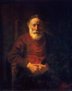 Rembrandt van Rijn. 1606-1669    Portrait of an Old Man in Red    Holland, Circa 1652/54. Hermitage