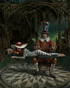 Imagine by Michael Cheval, giclee on canvas. Cheval's painting plays off of Strawberry Fields with a guest appearance by Lennon. For more information or to order please call 301-881-5977, email info@huckleberryfineart.com or visit us at www.huckleberryfineart.com