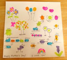 Pictures that kids can make with their thumb/finger print.