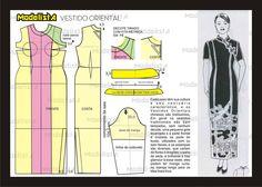 Modelagem de vestido oriental. Fonte: https://www.facebook.com/photo.php?fbid=571490132886896&set=pb.422942631074981.-2207520000.1382876578.&type=3&theater