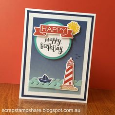 Scrap Stamp Share: Time for another favourite stamp set! CTMH My Anchor stamp set (and matching My Anchor Thin Cuts) and Regatta paper