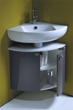 36 Best Ideas for bathroom storage cabinet corner double sinks Bathroom Basin Cabinet, Corner Sink Bathroom, Small Bathroom Sinks, Bathroom Layout, Bathroom Storage, Kitchen Room Design, Home Room Design, Interior Design Kitchen, Bathroom Design Luxury