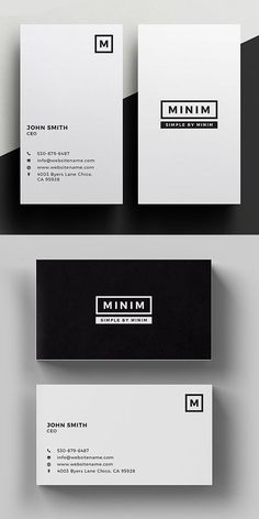 Simple, clean and minimal business card templates ideal for personal identity or minimalist design business. The super clean business card designs have been Business Branding, Minimal Business Card, Simple Business Cards, Business Design, Corporate Business, Creative Business Cards, Fashion Business Cards, Vertical Business Cards, Business Ideas