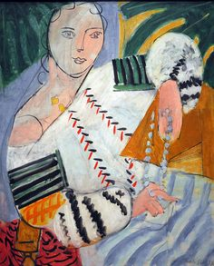 Henri Matisse (French painter): Romanian Blouse, 1937- The canvas must have been discussed, if not prompted by the visit of an old friend, the Romanian painter Theodor Pallady , whose portrait was sketched by Matisse, in Nice, in 1940.The friendship between Matisse and the Romanian Pallady went back to their time together at the Ecole des Beaux Arts in Paris (1891-1900). Throughout their long correspondence a close affinity developed between the French and the Romanian painter.