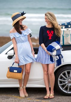 Classy Girls Wear Pearls: Fiat Around Newport 2019 - summer apartments sunny beach summer beach background summer beach dress summer beach hats summer sunny beach - blue dress beaches - Summer Blue Dresses 2019 Adrette Outfits, Preppy Outfits, Summer Outfits, Preppy Dresses, Preppy Fashion, Nautical Fashion, Classic Fashion, Curvy Fashion, Blue Dresses