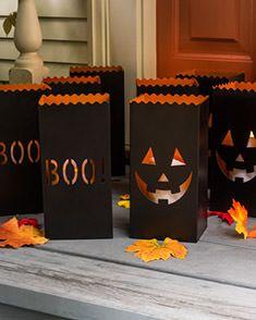 Halloween Pumpkin Luminaries, Set of 4