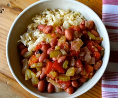 Savory Slow Cooker Beans with Rice Healthy Crockpot Recipes, Rice Recipes, Slow Cooker Recipes, Cooking Recipes, Crockpot Ideas, Healthy Dinners, Easy Meals, Clean Eating Recipes, Lunches