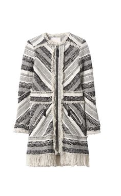 50da676ec8815 Artisan tweed gives a hand-woven feel to this winter coat. A straight  silhouette