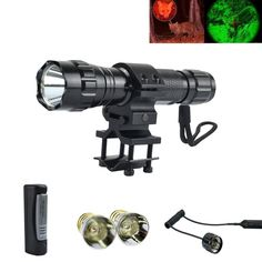 oT-Spot 501B Cree XM-L2 LED 5-Mod Flashlight Torch Lamp with Two Cree Q5 Led Bulbs, perfect for Home Use and Outdoor Sports like Hunting, Camping, Hiking, Caving, etc -- See this awesome image  : Camping stuff Flashlight, The Great Outdoors, Drill, Hunting, Camping Stuff, Led, Bulbs, Sports, Awesome