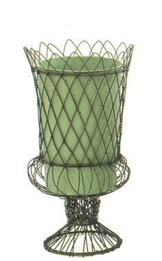 Bon Natural Decorations, Inc.   French Wire Urn With Cylinder Insert   Great  For Country