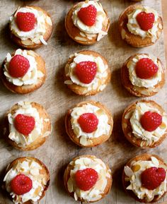 Raspberry Bakewell Tarts, so sweet they make your teeth squeak!