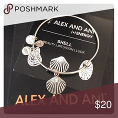 Alex and ANI Shell - Silver Like new condition - comes with original card and box Alex & Ani Jewelry Bracelets
