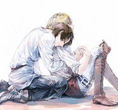Tags: Anime, Pixiv Id 504436, Shingeki no Kyojin, Armin Arlert, Eren Jaeger