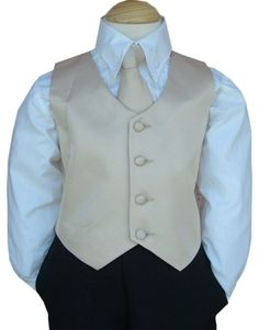 Boys Vest and Tie Set in Champagne $29.95