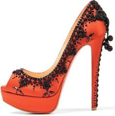 Christian Louboutin Shoes with a sizzling Spanish design <3