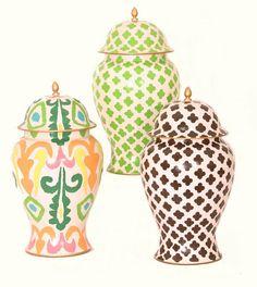 Dana Gibson ginger jars