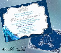 Hey, I found this really awesome Etsy listing at https://www.etsy.com/listing/214674030/cinderella-invitation-cinderella