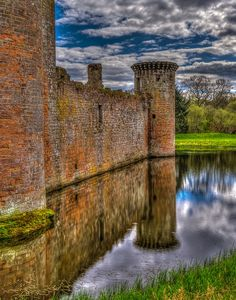 Caerlaverock Castle is a 13th century moated-triangular castle located south of Dumfries, Scotland