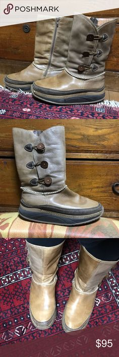 Rare Pikolinos wellness line leather boots Used but lots of life left. These are hard to find and expensive! Please see all pics!  These are one of the original rocker shoes.  All leather and well made. Leather buttons on side. Made in Spain.  Please message me with questions. PIKOLINOS Shoes Heeled Boots