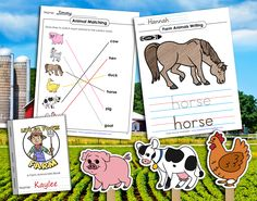 Keep your #students #learning till the cows come home with our #farmtheme #literacy and #math #printable #worksheets, #crafts, and #creativeplay #activities! Preschool Curriculum, Preschool Printables, Preschool Lessons, Homeschooling, Spelling Worksheets, Teacher Worksheets, Printable Worksheets, Farm Activities, Animal Activities