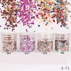 1 caixa rosa colorido lantejoulas unhas acrílicas Hexagon Sparkly 3D prego lantejoulas Glitter pó poeira para Nail Art Tips decoração em Porpurina para unha de Beleza & saúde no AliExpress.com | Alibaba Group