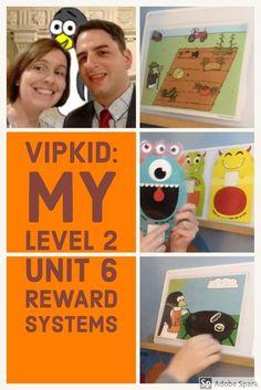 Take a peek inside my box of reward systems for VIPKID Level 2 Unit 6 #vipkid #rewardsystems #rewards