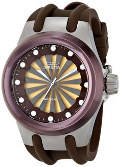 Invicta Men's 15864 Specialty Analog Display Swiss Quartz Brown Watch