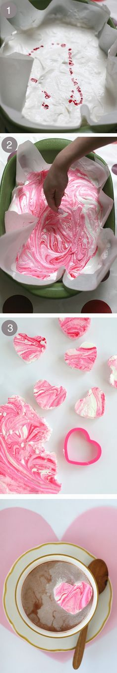 DIY peppermint marshmallows in the sweetest of shapes - cupcake decor idea by redgang01