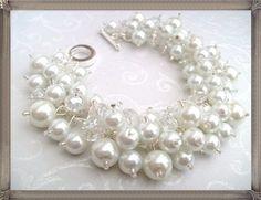 Set of 5 Pearl Bracelets