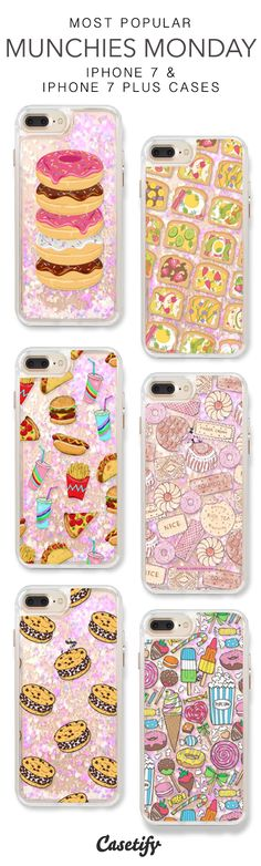 Most Popular Munchies Monday iPhone 7 Cases & iPhone 7 Plus Cases. More protective liquid glitter iPhone case here > https://www.casetify.com/en_US/collections/iphone-7-glitter-cases#/?vc=18ArxeJYIa