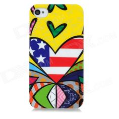 Quantity: 1 Piece; Color: Yellow + red + blue; Material: Plastic; Type: Back Cases; Compatible Models: Iphone 4 / 4S; Other Features: Unique graffiti design personalized your cell phone; Protects your device from scratches shock and dust; Packing List: 1 x Back case; http://j.mp/1kUl3le