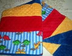 Red Yellow & Green Parading Dinosaurs On A by CreativeDesignsByond, $25.00