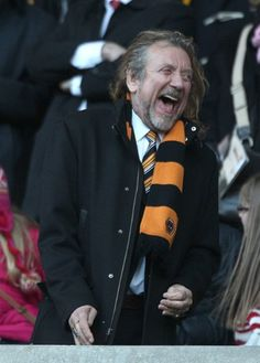Robert Plant at the Wolverhampton game--his fave team:)